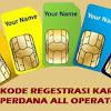 NIH...!!! KODE REGESTRASI KARTU PERDANA ALL OPERATOR (TRI, TELKOMSEL, INDOSAT, XL - AXIS)