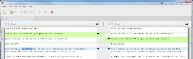 comparar dos archivos de texto meld