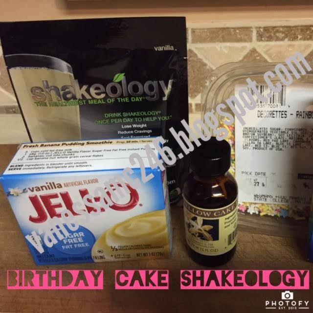 Birthday Cake Shakeology Protein Shake Batter