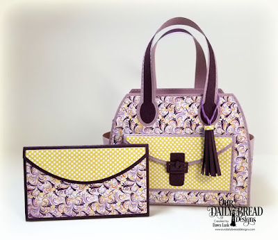 Our Daily Bread Designs Custom Dies: Timeless Tote, Timeless Tote Layers, Petite Pocketbook,Paper Collections: Whimsical Wildflowers, Plum Pizzazz