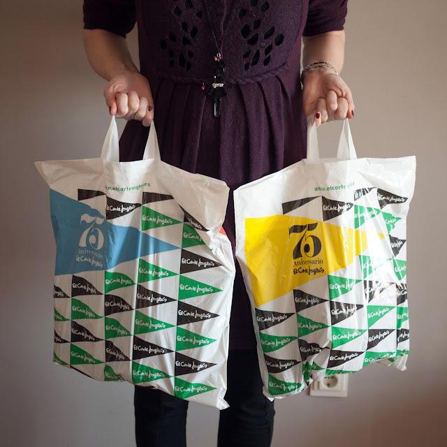 Las  bolsas de mi compra
