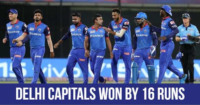 Delhi Capitals won by 16 runs