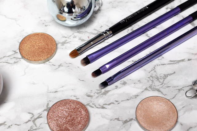 Real Techniques pointed liner brush eyelining set review