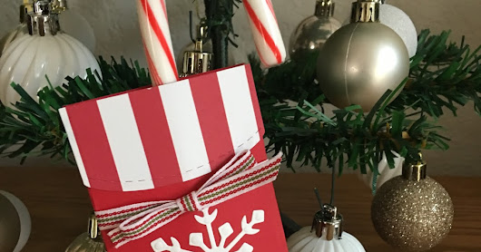 Trim Your Stockings Candy Cane Holder
