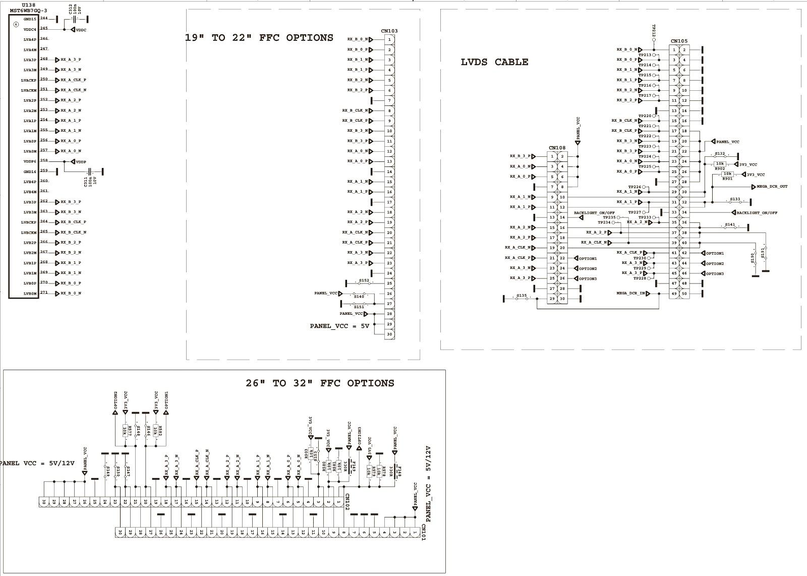 Schematic Diagrams Vestel 17mb25 Tft Lcd Tv Kit Circuit