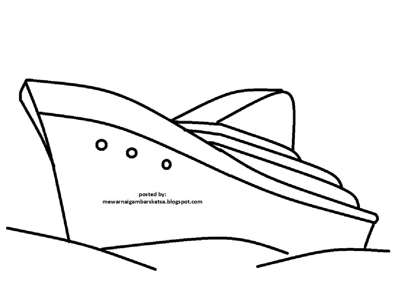 Kapal Mewarnai Gambar Alat Transportasi Wwwmiifotoscom
