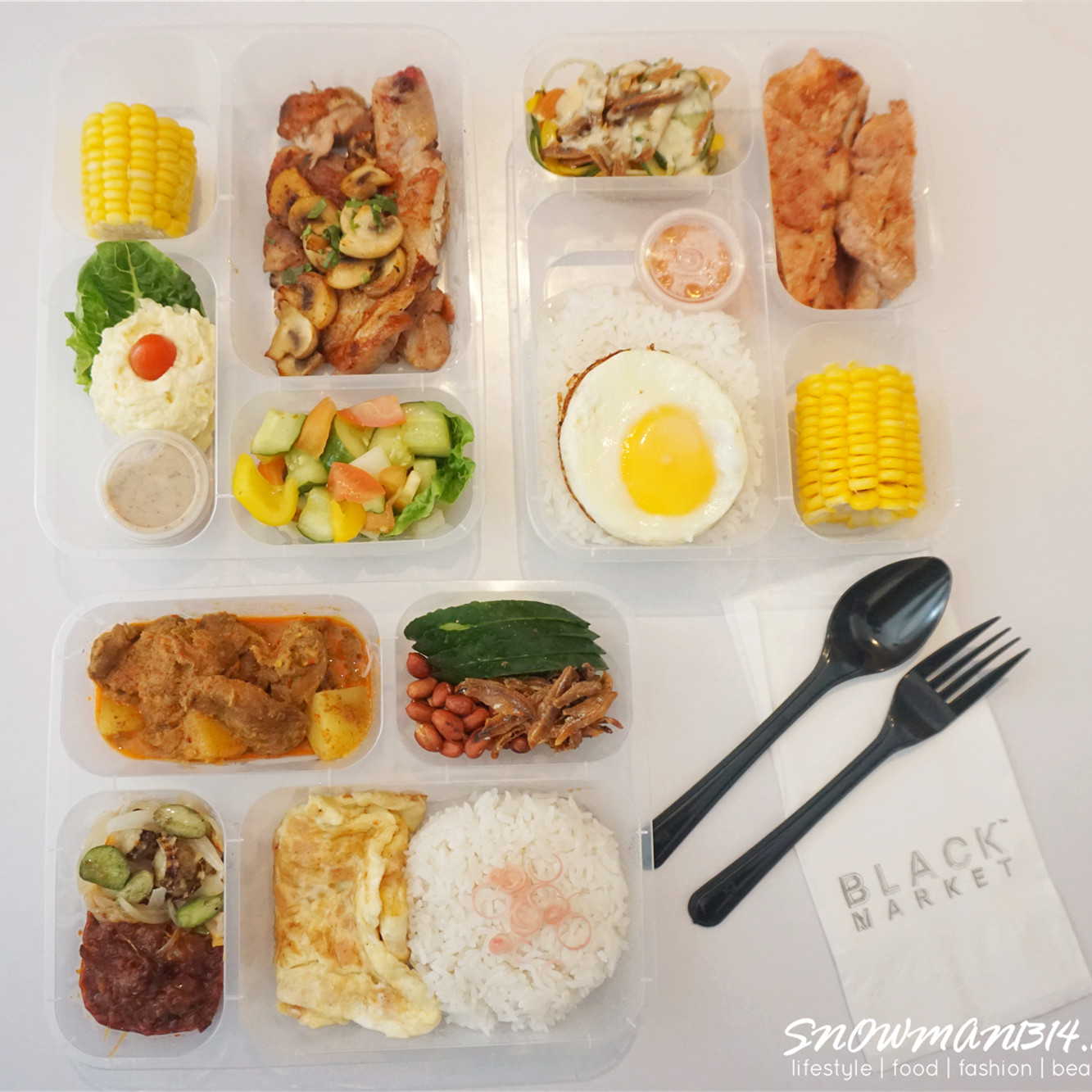 Black Market served quite fusion food style where you can find Western and Asian food in their menu. Each of the lunch boxes comes with really nice and ... & Sharon · SNOWMAN1314: [Food Delivery] BUY 1 FREE 2 only at ... Aboutintivar.Com