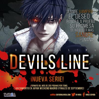 Editorial Ivréa ha anunciado la licencia del manga Devil's Line, obra original de Ryo Handa.