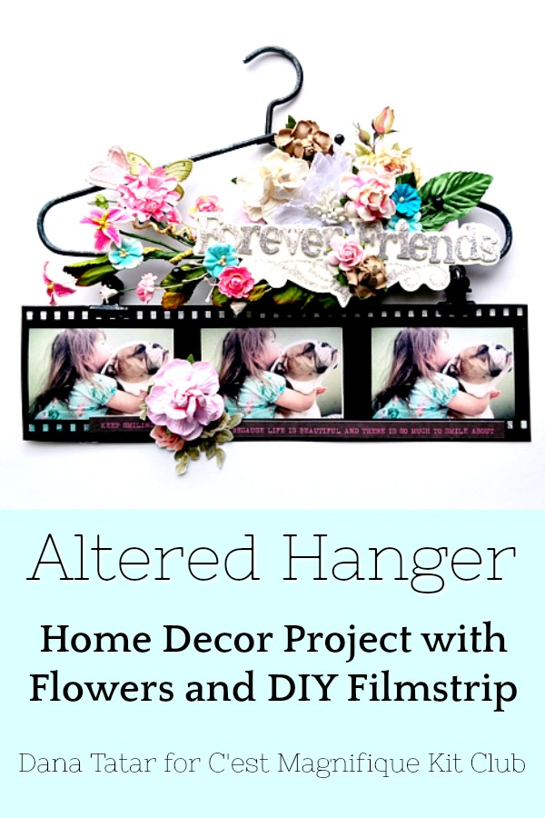How to Assemble an Altered Art Project with a Hanger and Scrapbooking Supplies