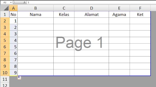 Bagaimana Cara Penomeran otomatis pada Ms Office Excel #pieCara