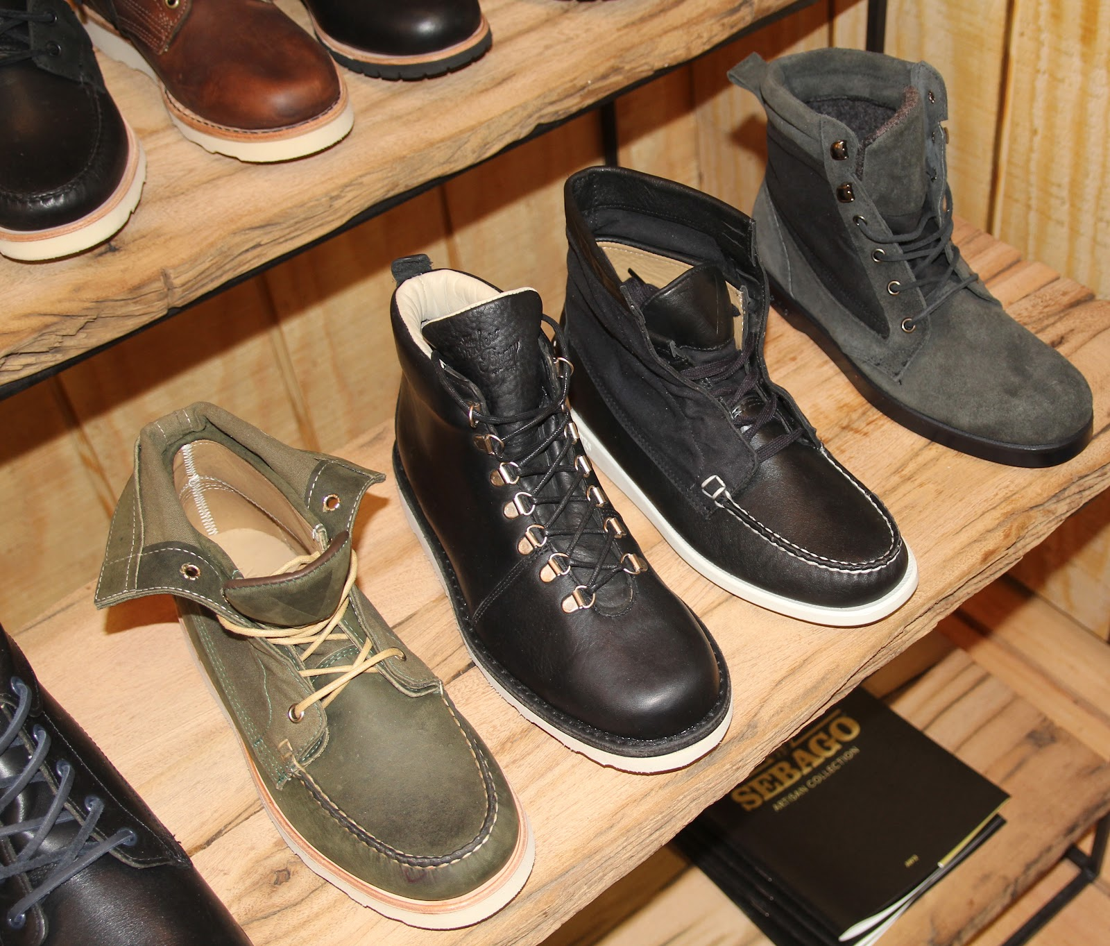 85df2904478fcf The Brother's Bray & Co. handsome leather Everest (Black-middle left),  Vane's Exo Command (Olive-left) and Kings Point Ronnie Fieg's(Black-middle  right)