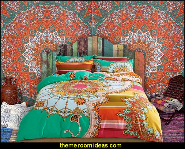 Colorful Boho Style bedding - Indian Tapestry Wall Hanging
