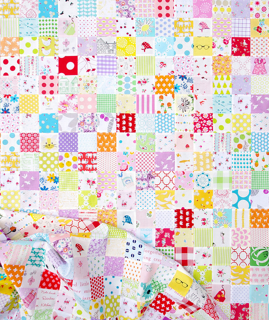 Checkerboard Patchwork Quilts | Work in Progress | Red Pepper Quilts 2016