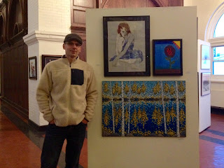 artist aaron kloss at the duluth art institute annual membership show