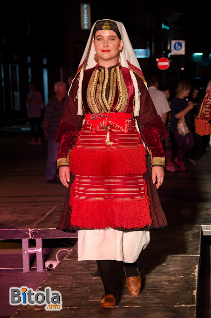 Macedonian national costume - Ethnic area Mala Reka - Miaks - costume for girl