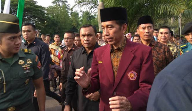 Presiden Joko Widodo di Malang