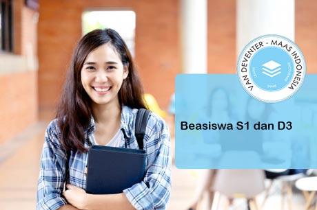 Beasiswa kuliah 2020 dari van Deventer-Maas Indonesia