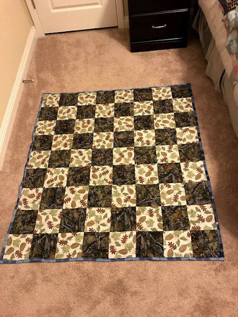 a quilt for a man that loves the outdoors