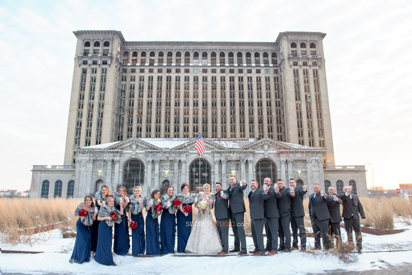 Detroit Old train station Wedding Photography - Sudeep Studio