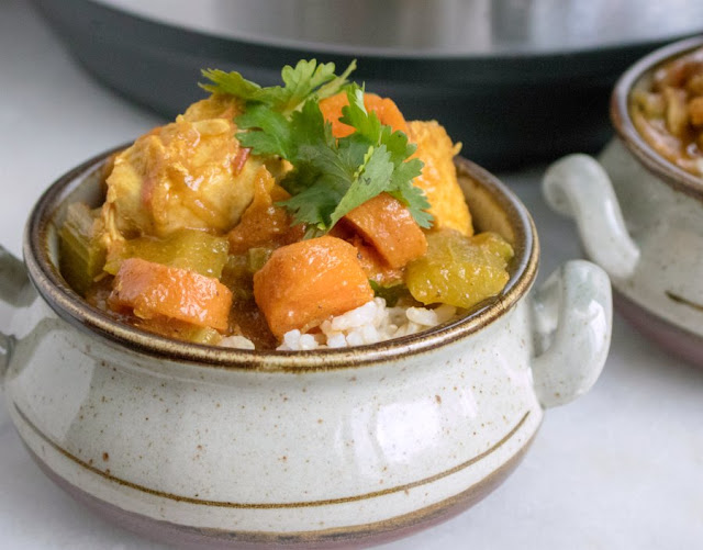 Instant Pot Curry Chicken and Vegetables