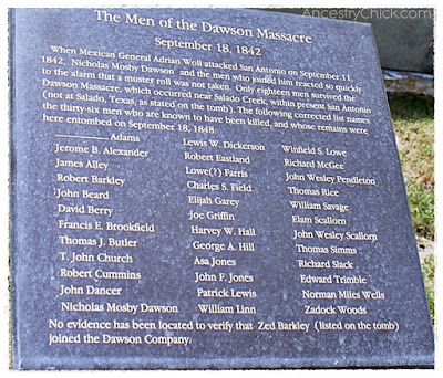Dawson Massacer Marker Monument Hill