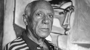 Un poema de Pablo Picasso - en la cortina desprendida de las manos...
