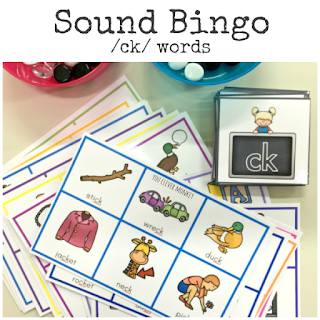 Sound Bingo Game - 'ck' words classroom set ready to print | you clever monkey