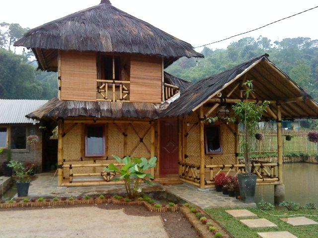 rumah kayu bambu