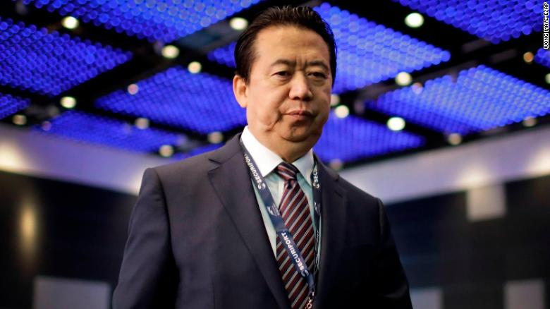 Missing Interpol President Meng Hongwei Sent 'Knife' Photo To Wife Before Disappearing