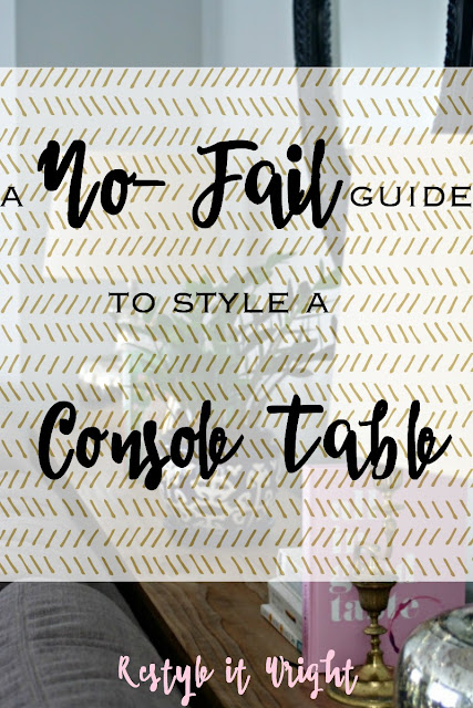 no fail guide to style a console table with 4 essential items