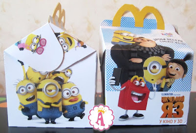 Photos of Minion Toys, new McDonalds collection, summer 2017 Ukraine