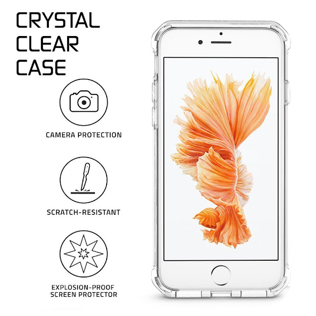 Matone Apple iPhone 8 Crystal Clear Bumper Cover.