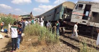 تفاصيل حادث تصادم قطاري خورشيد بالإسكندرية ,50 مصابا و20 متوفى حتى الآن