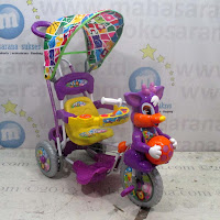 purple ball baby royal tiga roda sepeda