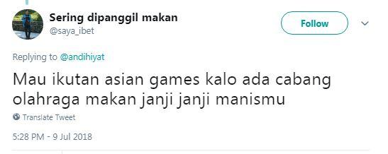 10 Meme Kocak 'Ikutan Asian Games' Hasil Curhatan Warganet