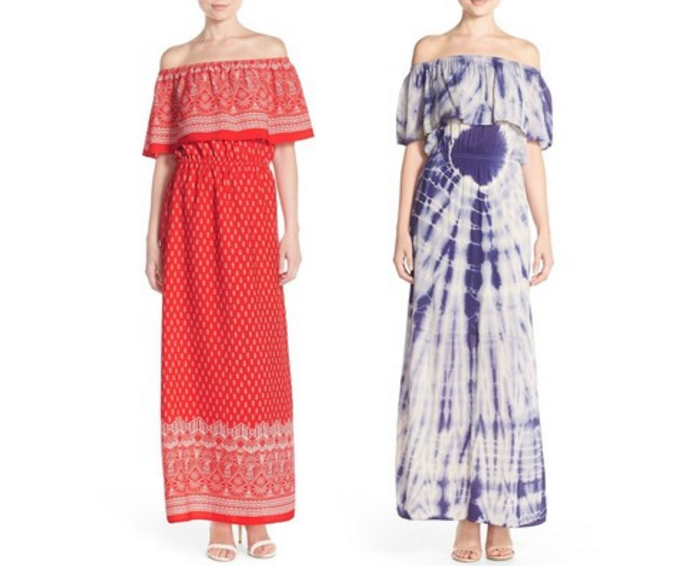 Fraiche by J Off the Shoulder Woven Maxi Dress, Off shoulder dresses for Summer, Off shoulder dress, How to wear off shoulder dresses
