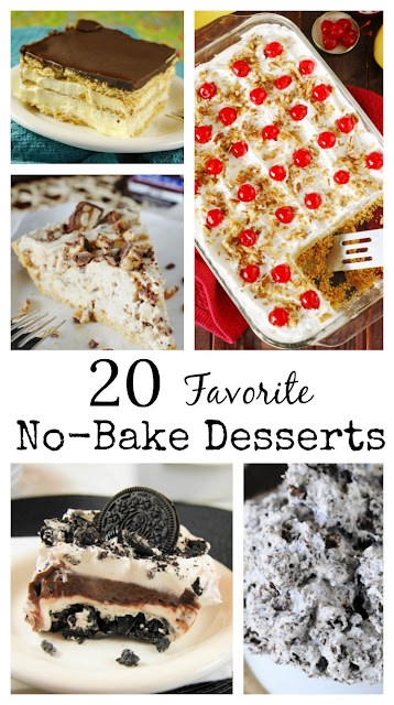 Want to keep that oven off but still serve up an incredibly delicious dessert? ~ Just choose from one of these 20 favorite No-Bake Desserts.  They're sure to satisfy your no-bake sweet tooth!