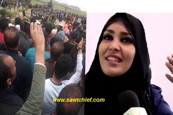 """(بالفيديو) البرلمانية فوزية طهراوي : """"سأبقى في حداد ..لروح شهداء الطائرة"""""""