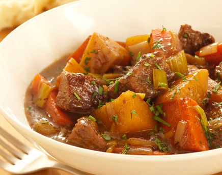 beef and root vegetables