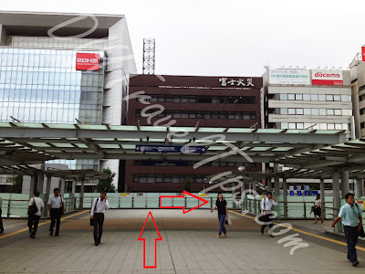 Outside Shin-Yokohama station to Ramen Museum