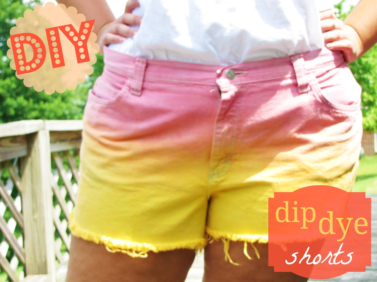 Floral Anchors: DIY Dip Dye Shorts