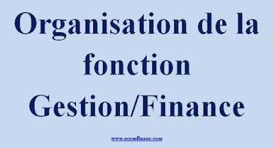 Organisation de la fonction Gestion/Finance