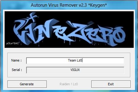 Autorun virus remover v3 3 serial keygen