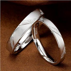 Cincin kawin palladium ideal