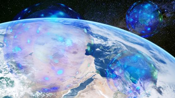 在地球周圍的球體存有的描寫