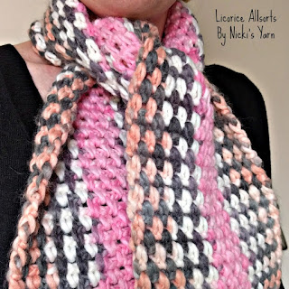 Planned Colour Pooling - Free Crochet Scarf Pattern