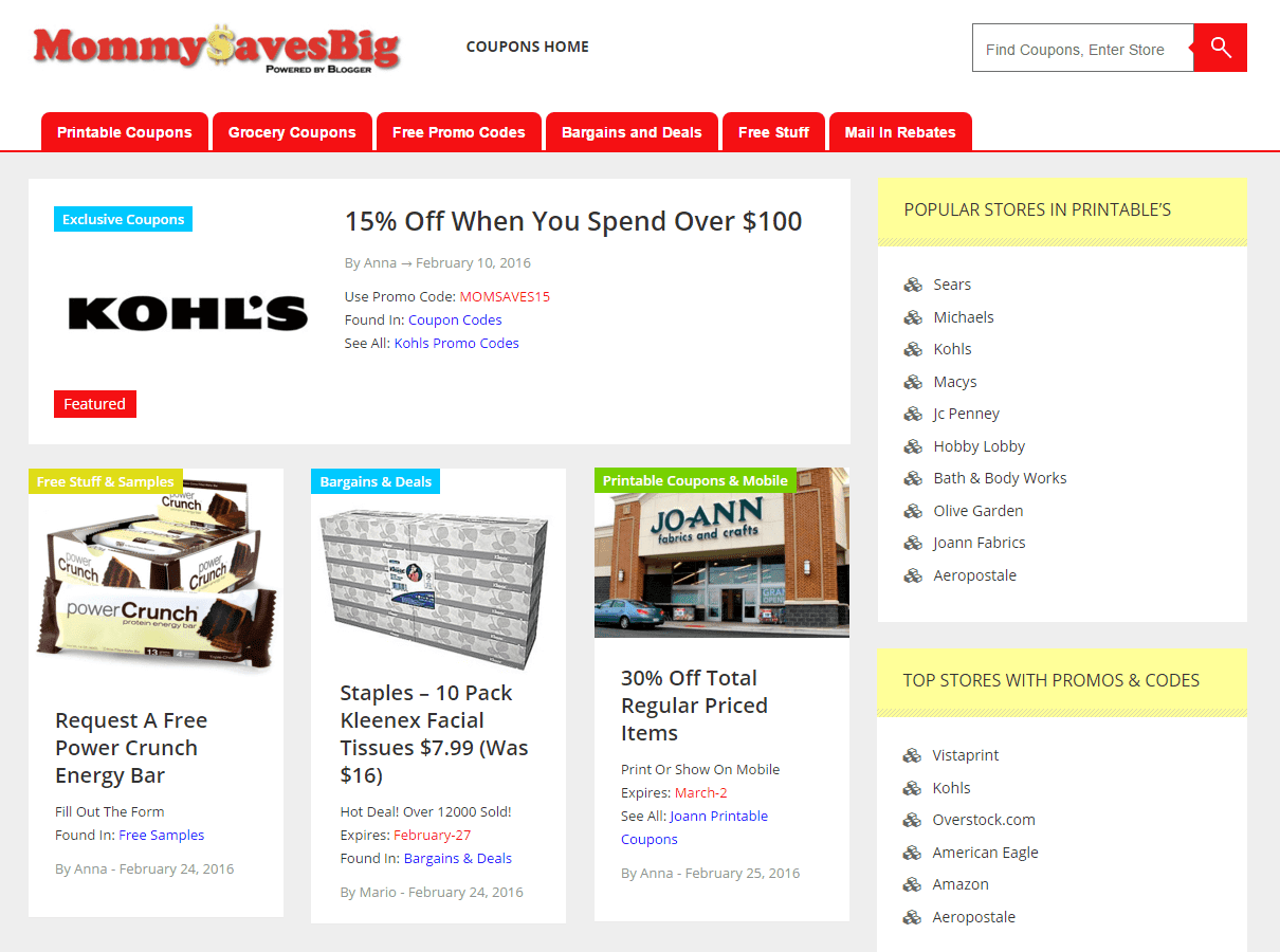 It is a graphic of Gutsy Mommy Big Saving Printable Coupons