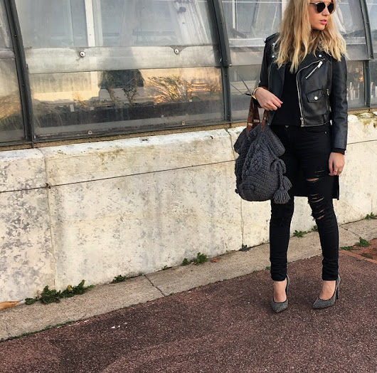 LOOK OF THE DAY : Monochrome noir