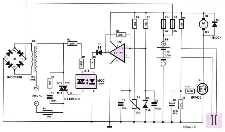 Secret Diagram: Simple12 volt Cellar Drain Pump