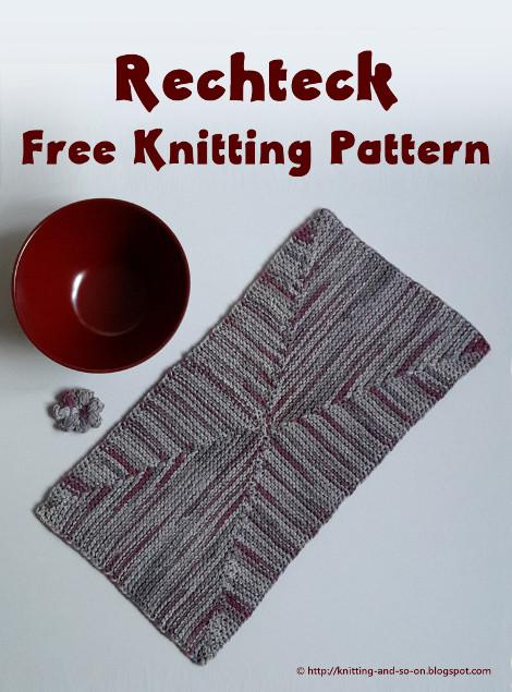 Knitting And So On Rechteck Rectangular Garter Stitch Doily